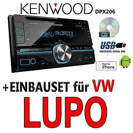 VW lupo kenwood dPX 206-2DIN uSB avec kit de montage