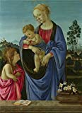 'Filippino Lippi The Virgin And Child With Saint John ' Oil Painting, 12 X 17 Inch / 30 X 42 Cm ,printed On Perfect Effect Canvas ,this Cheap But High Quality Art Decorative Art Decorative Prints On Canvas Is Perfectly Suitalbe For Wall Art Decor And Home Decor And Gifts