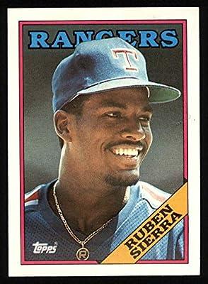 1988 Topps # 771 Ruben Sierra Texas Rangers (Baseball Card) Dean's Cards 8 - NM/MT