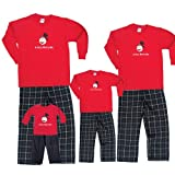 A Very Merry ME Red Shirt Pant Set - Adult X-Large, L/S, BW Plaid Pants ~ Footsteps Clothing