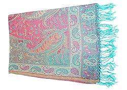 Maira Women's Pashmina Shawls & Stoles Blue Colour