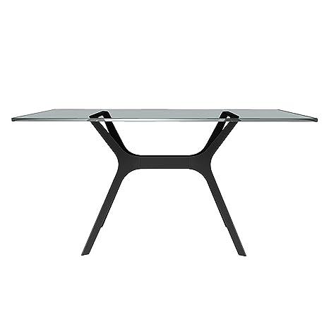 loftscape Table à manger Vela I - Noir - 120 x 80 cm