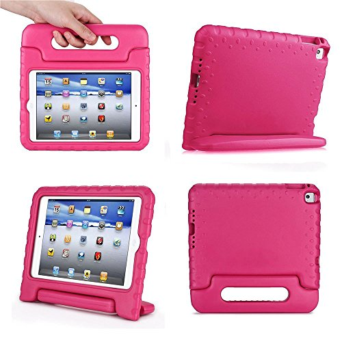 iPad MiNi 1/2/3 Kiddie Case-SNOW-Shockproof Case Light Weight Kids Case Super Protection Cover Handle Stand Case for kids Children for Apple iPad mini 1 / iPad mini 2 / iPad mini 3 (rose) (Mini Apple Ipad Accessories compare prices)