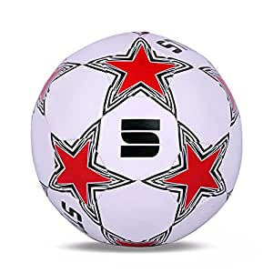 Strauss Budding Star Football Size-5 (White/Red)