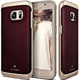 Galaxy S7 Case, Caseology® [Envoy Series] [GENUINE LEATHER] [Leather Cherry Oak] Leather Bound Bumper Cover for Samsung Galaxy S7 (2016) - Leather Cherry Oak