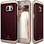Galaxy S7 Case, Caseology® [Envoy Series] Leather Bound Bumper Cover [Leather Cherry Oak] [GENUINE LEATHER] for Samsung Galaxy S7 (2016) – Leather Cherry Oak