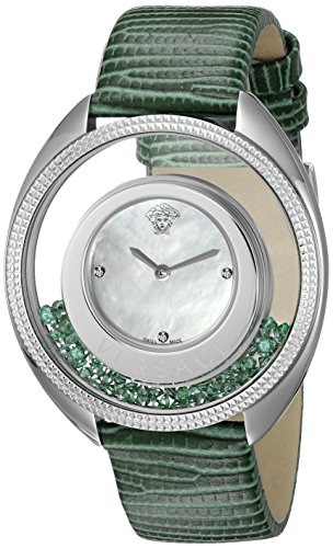 Versace-Womens-VQO020015-Destiny-Precious-Analog-Display-Swiss-Quartz-Green-Watch