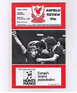 Liverpool V Wolverhampton Wanderers Wolves Fc 231278 Anfield Football Programme