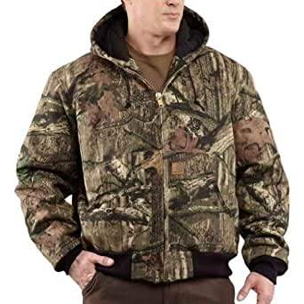 Carhartt Men's Big & Tall Quilt Flannel Lined Camo Active Jacket,Mossy Oak,XXX-Large
