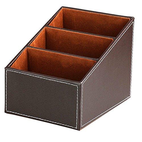 balamiya-3-slot-trapezoidal-pu-remote-control-controller-tv-guide-mail-cd-organizer-caddy-holder-wit