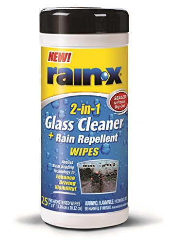 Rain-X 630022 Glass Cleaner and Rain Repellent Wipes - 25 Count clouds without rain