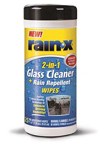 Rain-X 630022 Glass Cleaner and Rain Repellent Wipes - 25 Count london rain