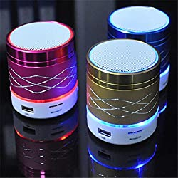 Genuine Rechargable Bluetooth Speaker with Led Light , Wireless Audio Receiver Outdoor, Home Theatre Portable USB MP3 Player Stereo Surround Loud Mini Radio Bluetooth Speaker Speakers with Light Support TF Card for SAMSUNG GALAXY ACE 4 LTE S313 PHONES