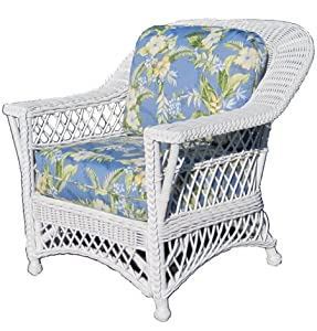com white bar harbor indoor natural rattan and wicker rocking chair