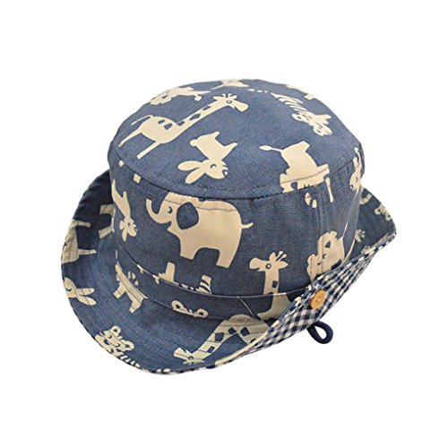 Lisianthus Boys Sun Protection Hat Spring Summer Bucket Hat Color Zoo Size 6-12M (Baby Boy Hat Sun Protection compare prices)