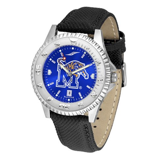 Suntime Memphis Tigers Ncaa Anochrome Competitor Mens Watch Poly/leather Band