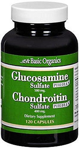 Glucosamine Sulfate /Chondroitin Sulfate Basic Organics 120 Caps (Basic Organics Inc compare prices)