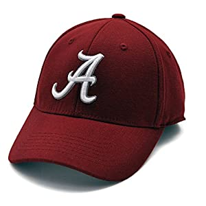 Alabama Crimson Tide NCAA Top of the World Premium Collection Adult One Fit Hat-Crimson from Top of the World