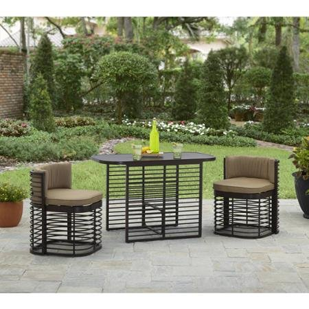 Better Homes and Gardens Murray Hill 3-Piece Small Space Aluminum Set (Patio Furniture Small Space compare prices)
