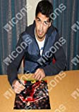 Luis Suarez Signed Photo: In Action