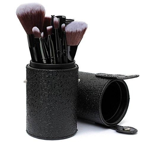 LuckyFine 8 Couleurs Vide Boîte PU en Cuir Cosmétique de Stockage Portable Maquillage Sacs Organisateur Brosse Coupe Holder Noir