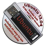 Ubuntu Linux 13.04 Bootable 8GB USB Flash Drive and DVD set - 32-bit and 64-bit.