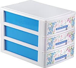 Nayasa Tuckins 3 Piece Drawer, Blue
