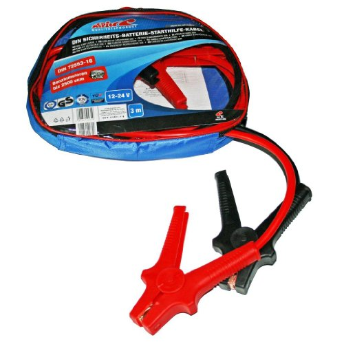 Alpin 400321 DIN Jump Leads 16 mm 3 m in Zip-Up Bag