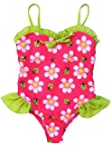 Pink Platinum Infant Baby-Girls Daisy and Ladybug One Piece Swimsuit, Fuchsia 12M