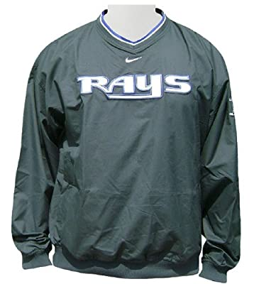 Tampa Bay Rays MLB Green Unlined Staff Ace Pullover Windjacket By Nike Team Sports