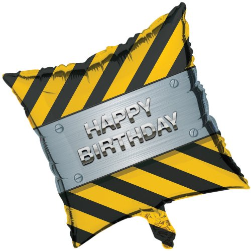"Construction Zone Party 18"" Square Balloon (1 ct)"