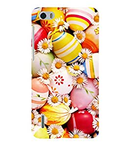 printtech Easter Eggs Flowers Colored Back Case Cover for Huawei Honor 6