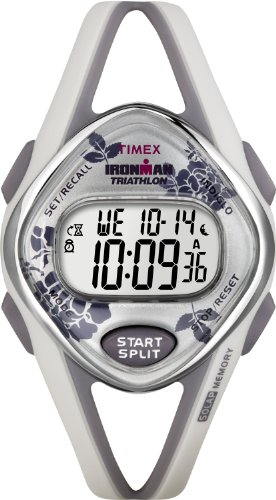 Timex Women's T5K377 Ironman Sleek 50-Lap Floral Digital Watch