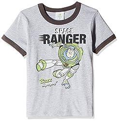 Fox Baby Boys' T-Shirt  (Grey Melange_3-6 months_327600)
