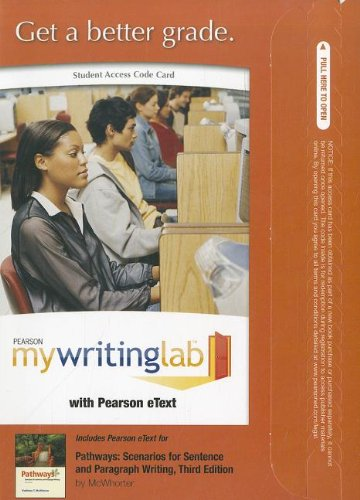 MyWritingLab with Pearson eText -- Standalone Access Card -- for Pathways  (3rd Edition) (Mywritinglab (Access Codes))