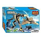 COGO(JP) おもちゃ戦闘機 飛行機模型 小学生プレゼント 2IN1 ロボット ブロック プラモデル 357ピース 3364