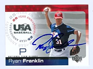 Ryan Franklin autographed 2004 USA Baseball Upper Deck Baseball Card #61 (St. Louis Cardinals Star)
