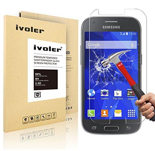 Samsung Galaxy Ace 4 Pellicola Protettiva, iVoler® Pellicola Protettiva in Vetro Temperato per Samsung Galaxy Ace 4 SM-G357/ G357FZ - Vetro con Durezza 9H, Spessore di 0,2 mm,Bordi Arrotondati da 2,5D-Shockproof, Trasparenza ad alta definizione, Facile da installare- Garanzia a