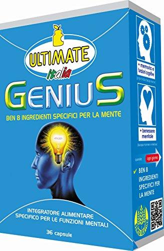 Ultimate Italia Geniuss Un Mix di Sostanze Studiato per Favorire Migliori Prestazioni Mentali - 36 Capsule