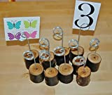 6pcs Wooden Base Memo Photo Holder Card Paper Note Clip Wedding Place Name Card Holders