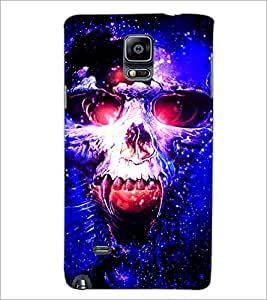 PrintDhaba Skull D-3902 Back Case Cover for SAMSUNG GALAXY NOTE 2 (Multi-Coloured)
