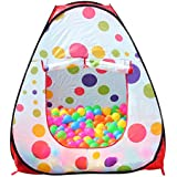 Alcoa Prime Portable Cute Hexagon Colorful Polka Dot Kids Playpen Ball Pit Indoor And Outdoor Easy Folding Play...