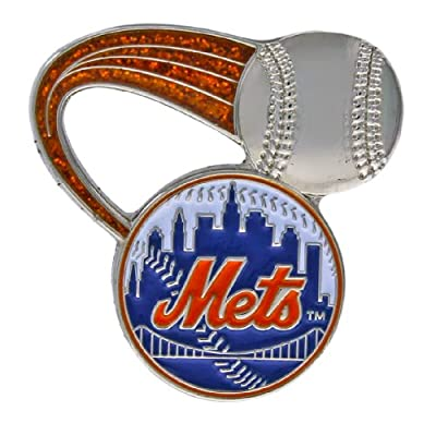 MLB New York Mets Glitter Trail Pin