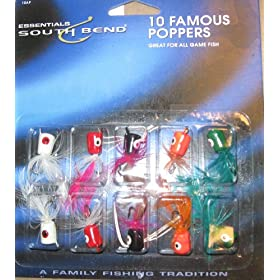60 FAMOUS POPPERS FOR FLY FISHING 6 PACKS OF 10