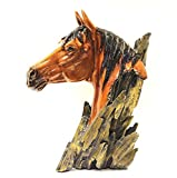 Home Decor horse head for office table and home good luck showpiece (Polyresin, Multicolor) (Size in cm - 24.5*18*35.5 (l*b*h))