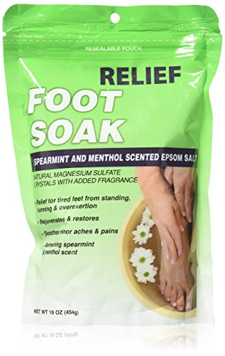 Relief MD Foot Soak Spearmint & Menthol Epsom Salt, 16 oz (Salt For Feet compare prices)
