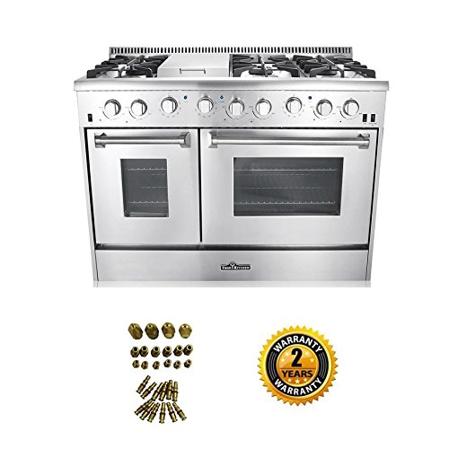 48-6-Burner-Gas-Range-with-Double-Oven-LP-Conversion-Kit-Bundle
