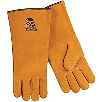 Steiner 02120-L  Premium Weld Gloves, Side Split Cowhide, Large