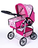 Bayer Design Doll Pram Milano (Pink)