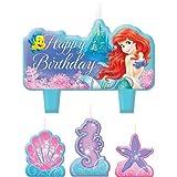 Little Mermaid Mini Molded Candles (4) Ariel Ocean Girl Birthday Party Supplies